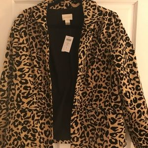 BRAND NEW Chico's leopard print jacket. Tags on